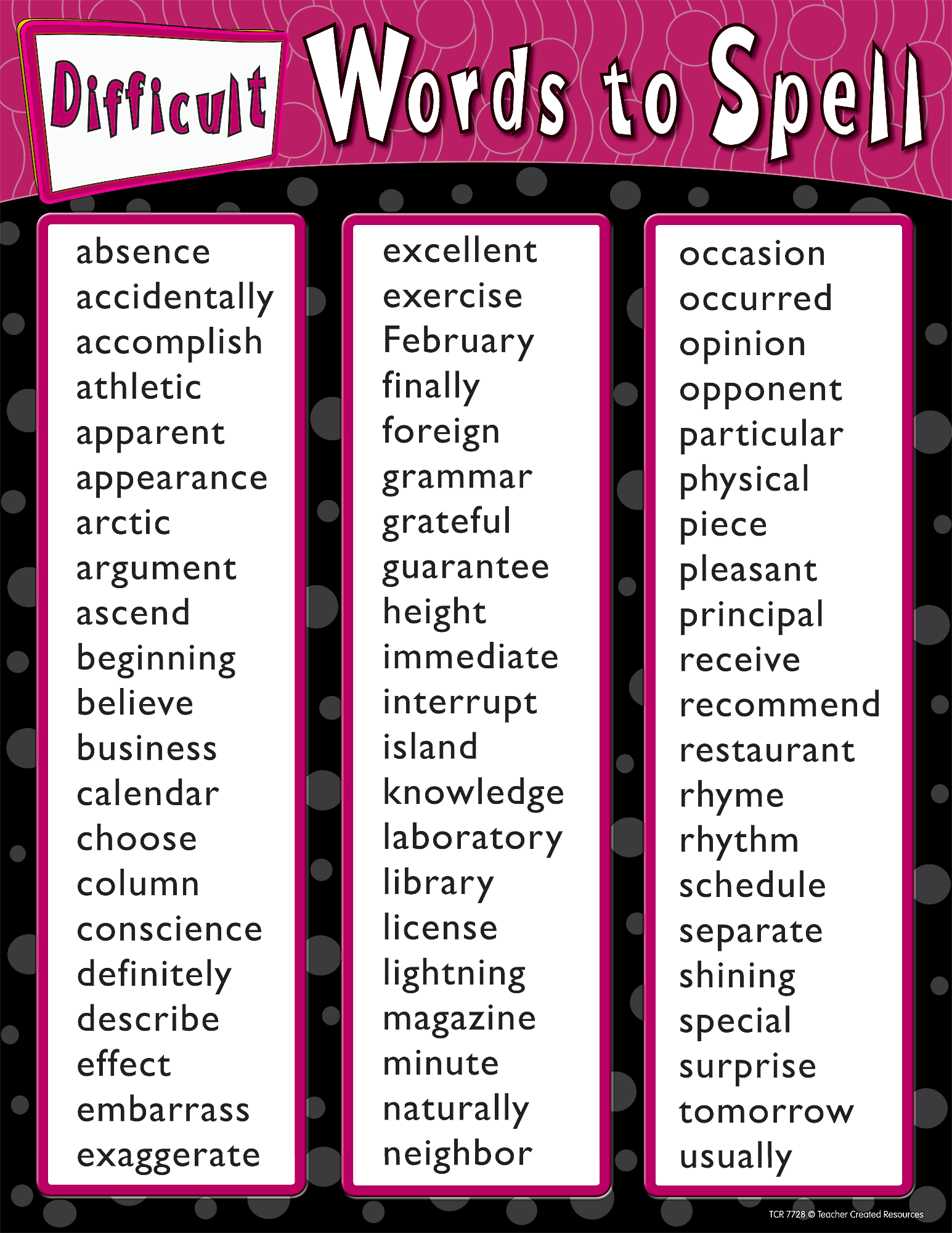20 Difficult English Words - Improve Your Vocabulary ...