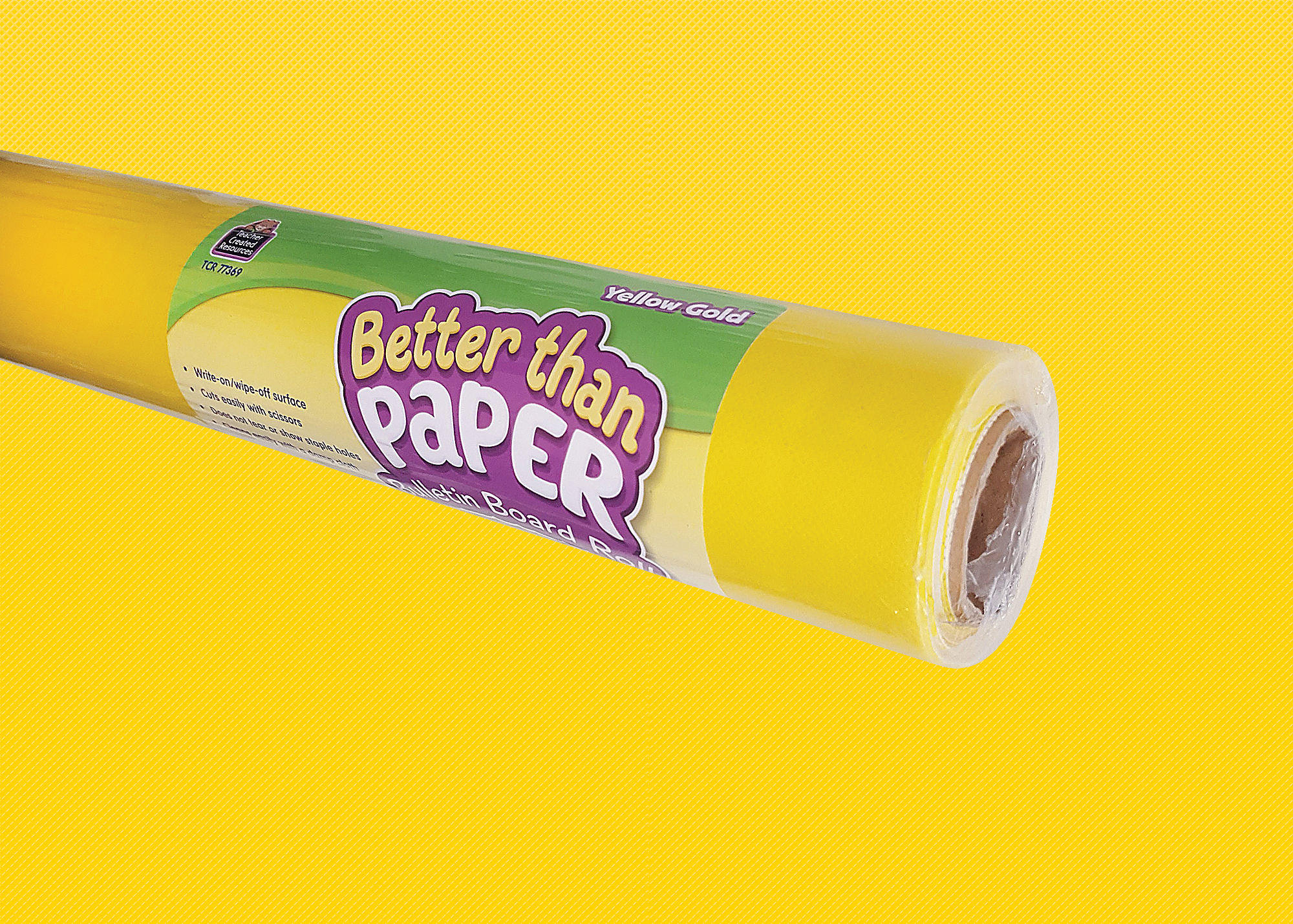 Teacher Created Resources 77369 Yellow Gold Better Than Paper Bulletin Board Roll