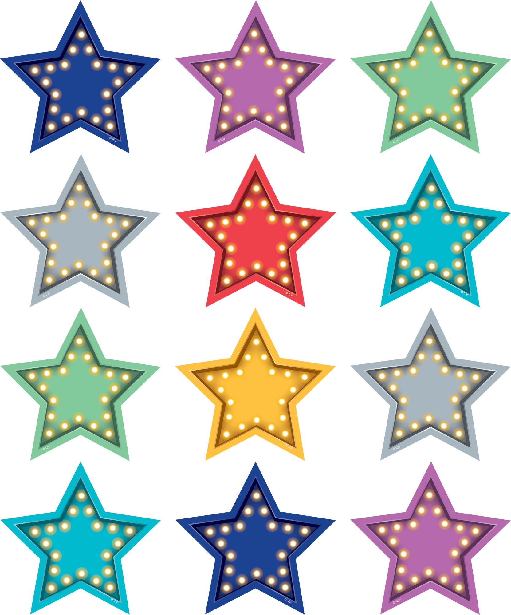 Marquee Stars Magnetic Accents Tcr77386 Teacher