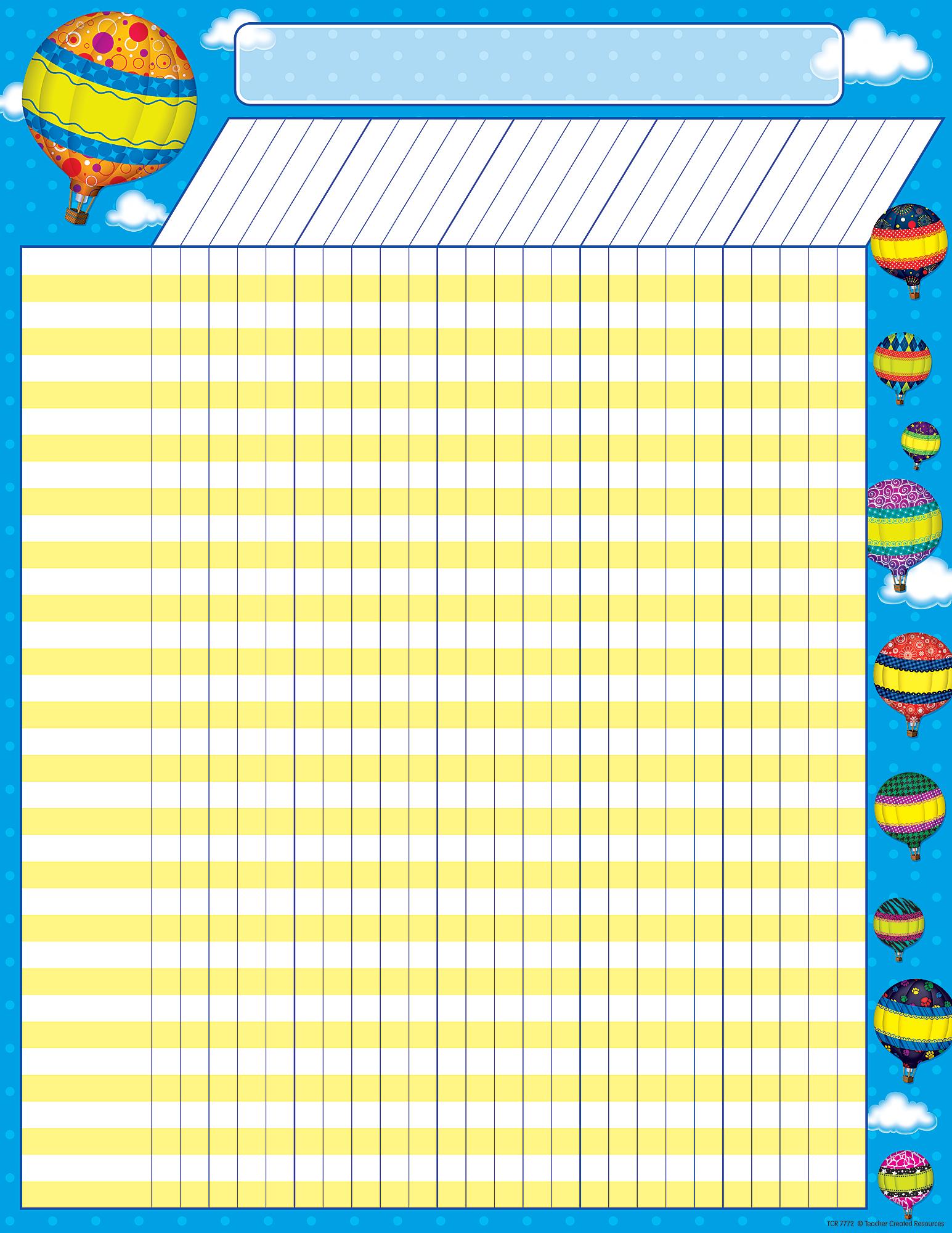 Hot Air Balloons Incentive Chart - TCR7772 | Teacher ...