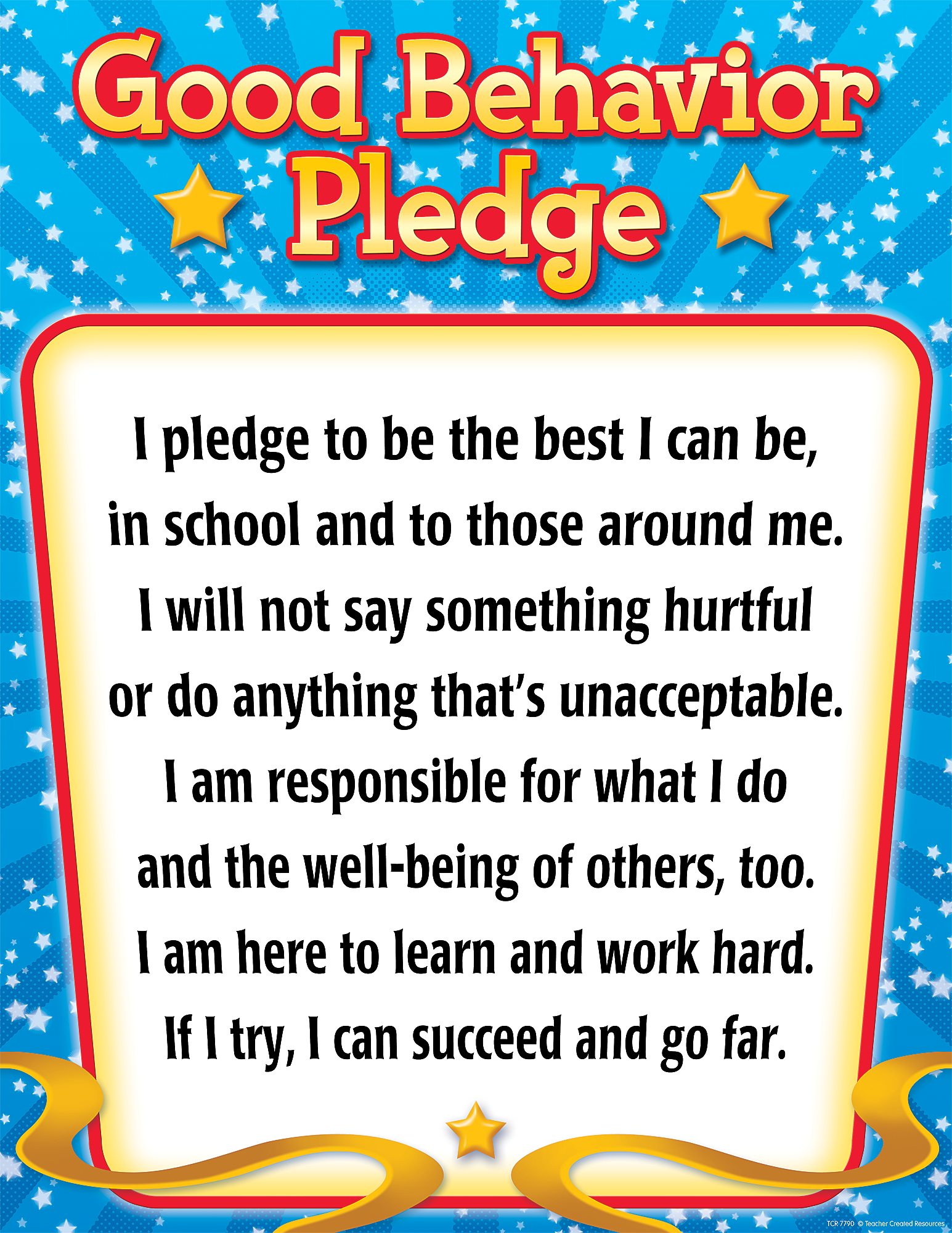 Good Behavior Pledge Chart Tcr7790 Teacher Created Resources