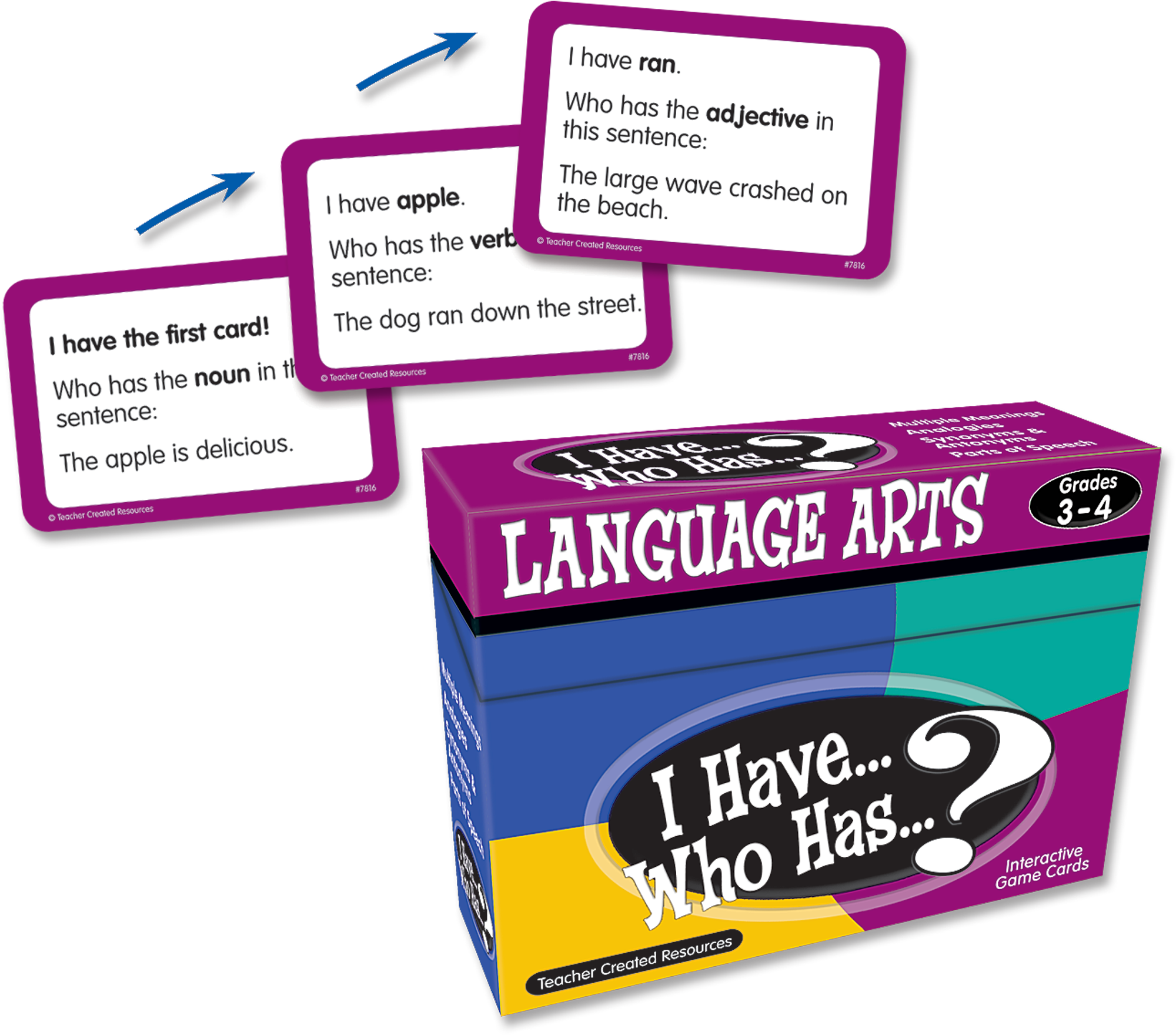 I Have, Who Has Language Arts Game Grade 3-4 - TCR7816 | Teacher Created Resources