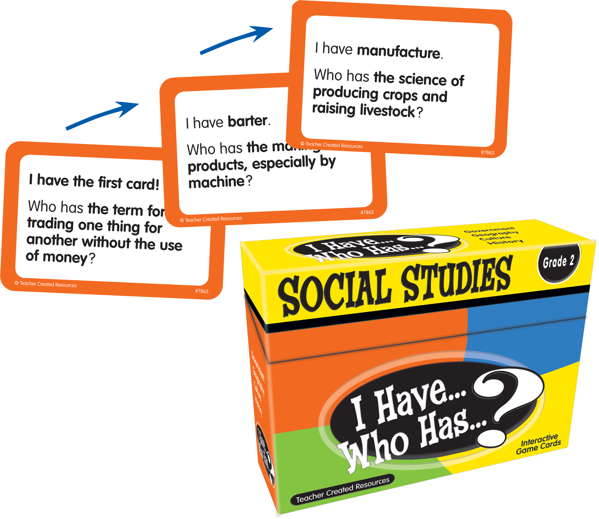 I Have Who Has Social Studies Game Grade 2 TCR7863 – Teacher Created Resources Inc Worksheets Answers