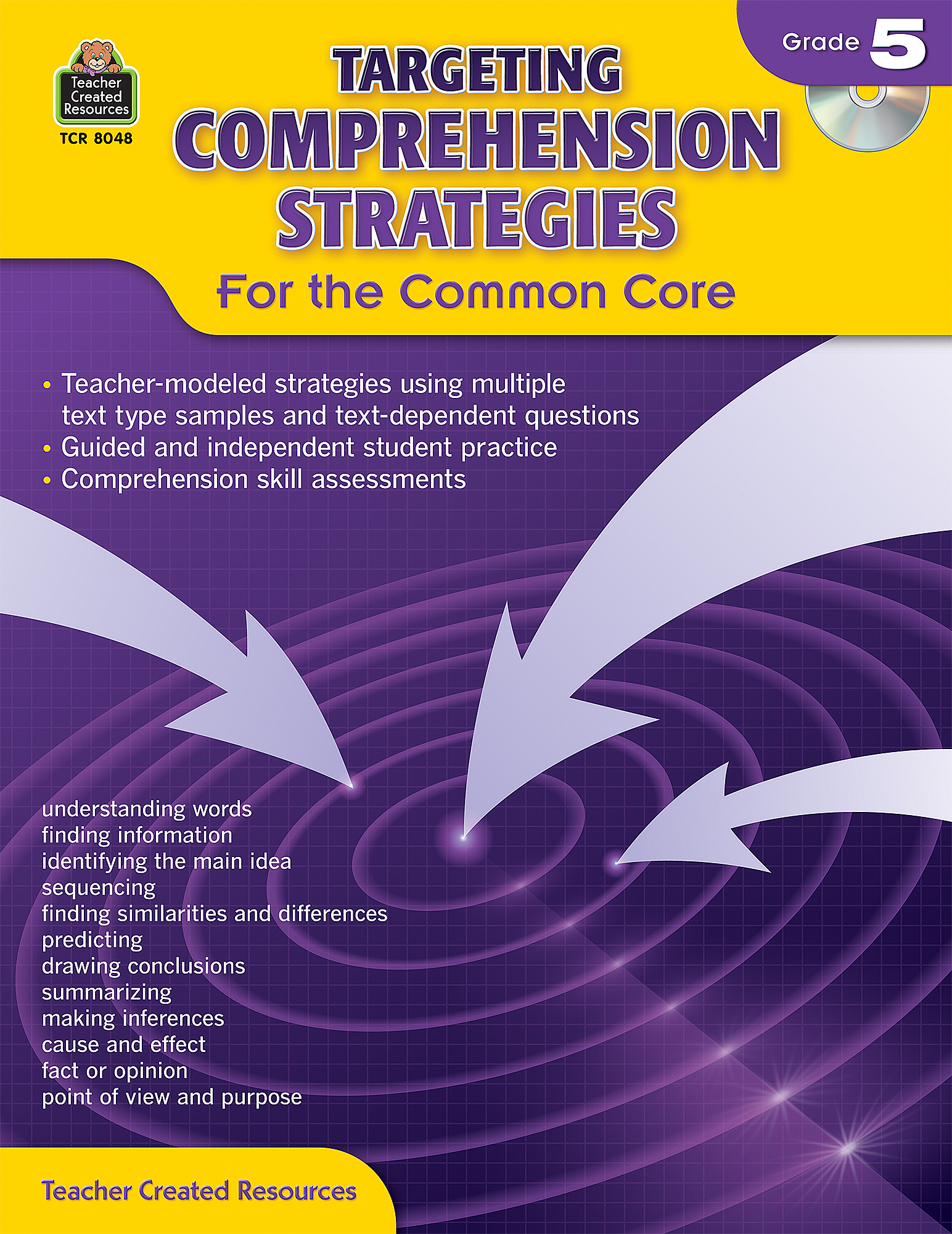 Targeting Comprehension Strategies for the Common Core Grade 5 – Teacher Created Resources Worksheets