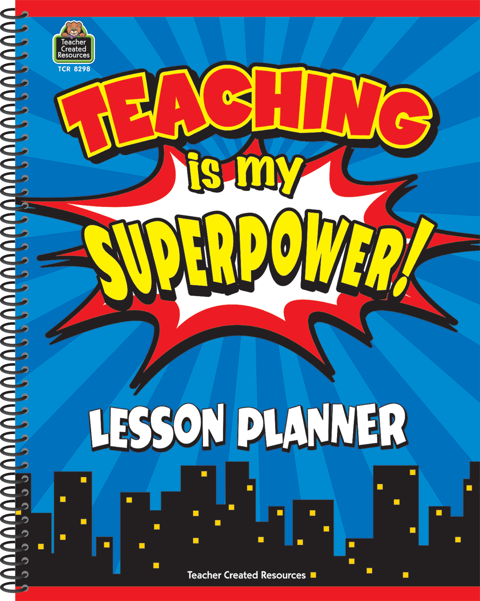 teaching is my superpower lesson planner tcr8298 teacher created