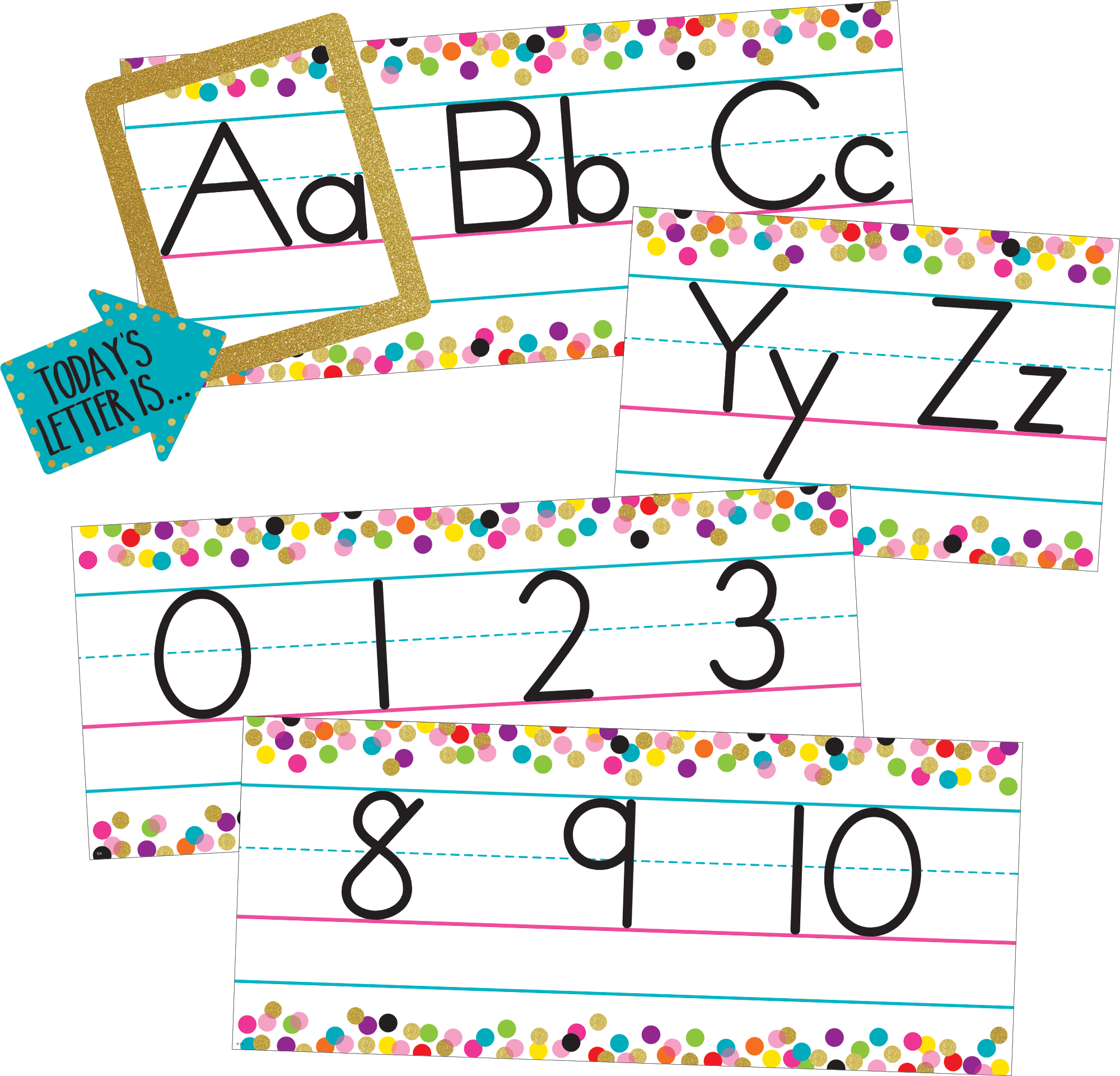 Confetti Alphabet Line Bulletin Board Tcr8804 Teacher