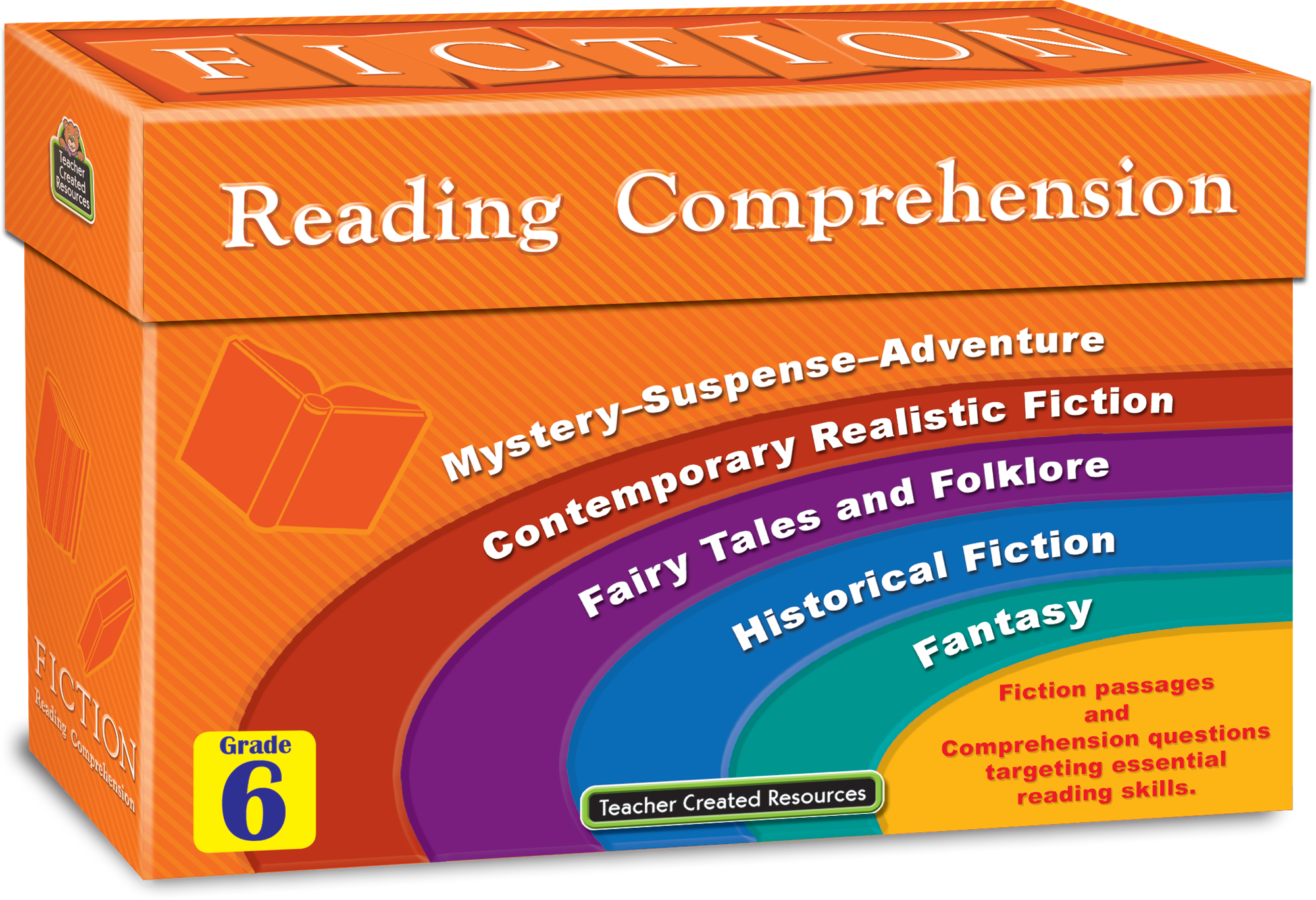 Fiction Reading Comprehension Cards Grade 6