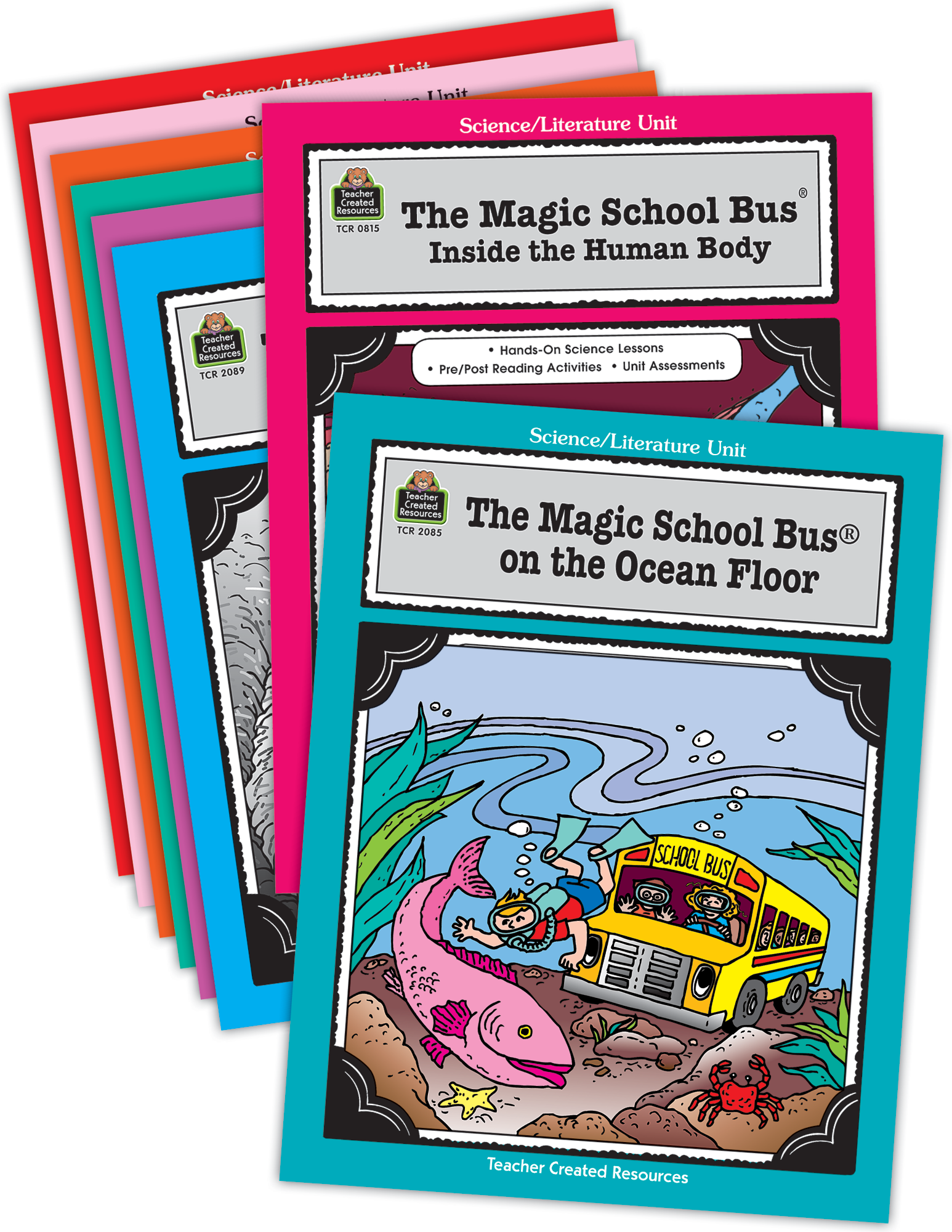 Magic School Bus Literature Units Set  8 Books