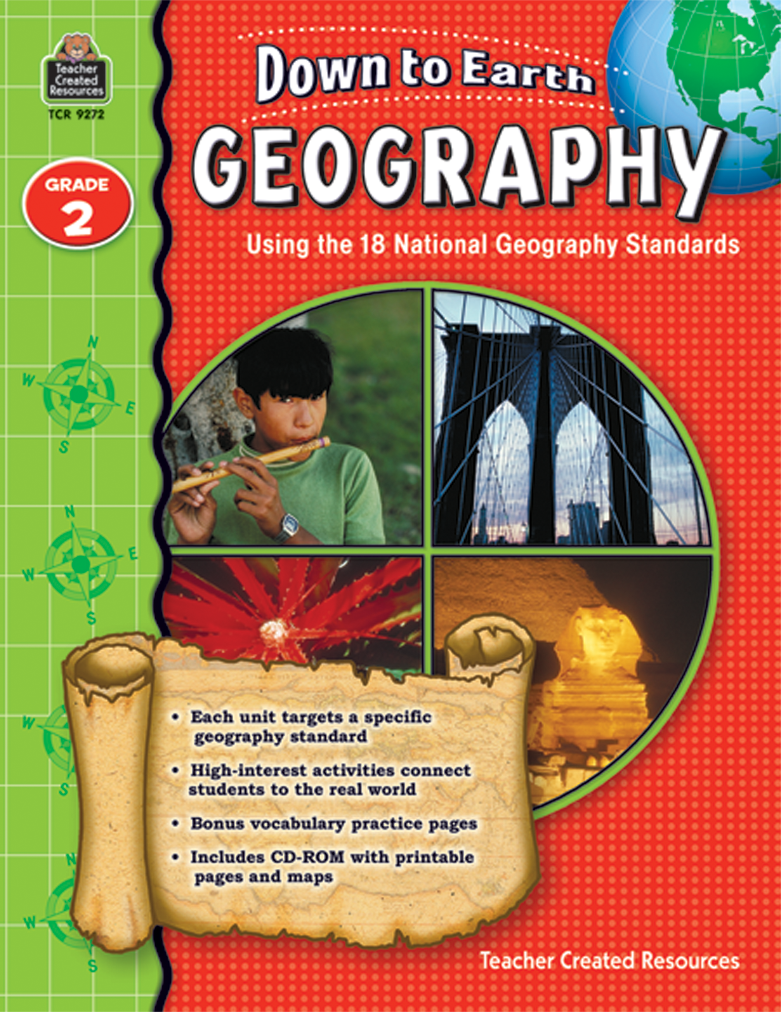 5th Grade Geography: Down To Earth Geography, Grade 2 - TCR9272