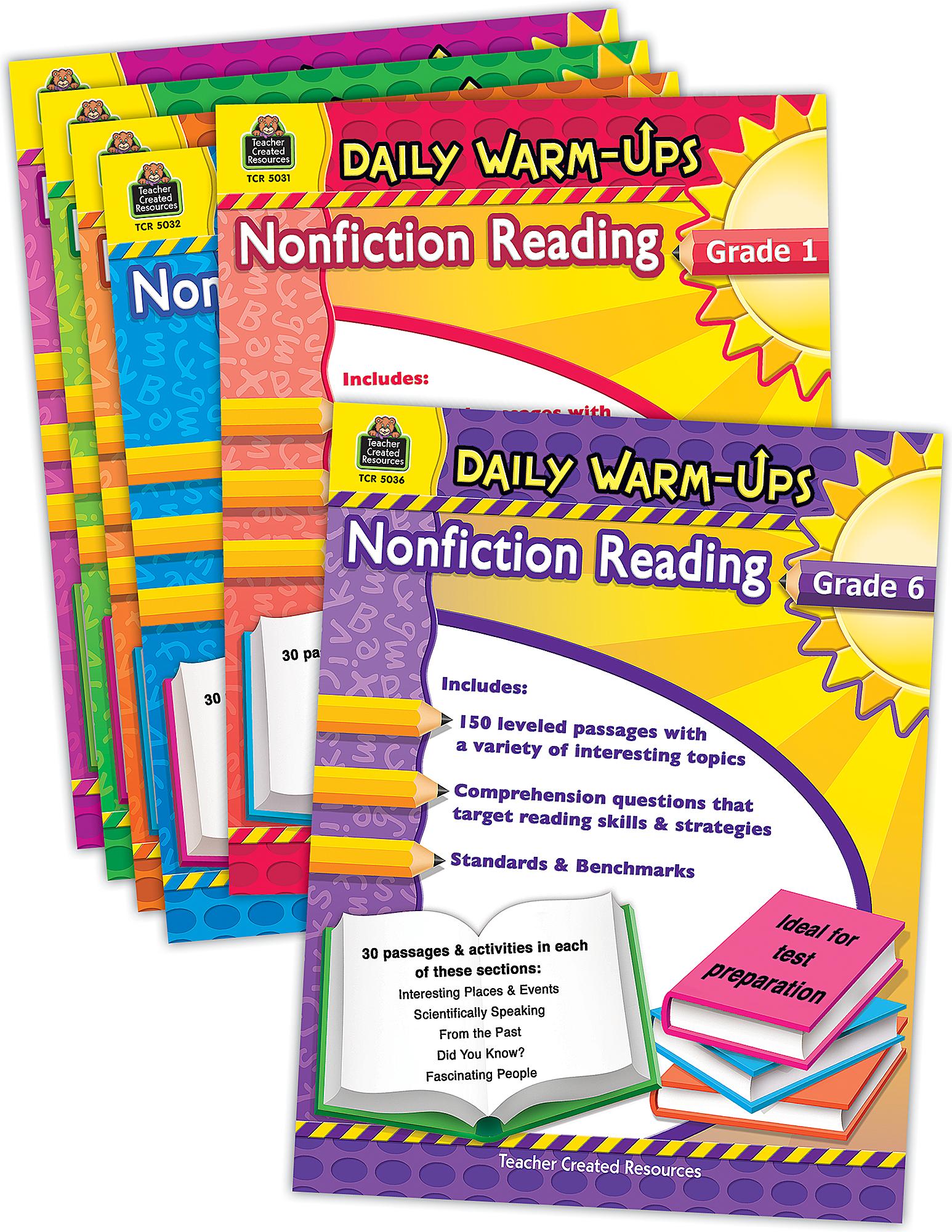 Daily Warm-Ups: Nonfiction Reading Set (6 bks)